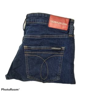 CK Jeans Blue Mid Rise Slim Denim Jeans sz 30